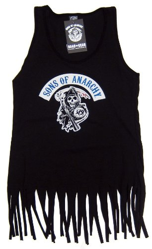 Sons of Anarchy Blue Reaper Fringe Women's Tank Top (S)