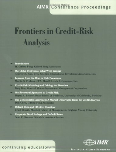 Frontiers in Credit-Risk Analysis