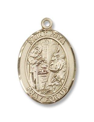 Gold Filled St. Zita Pendant
