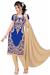 Rk The Fashion Women's Cotton Unstitched Dress Material (RK-FS-406_Blue_Free Size)