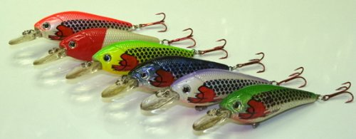 6 Set L6I Injured Shad Custom Lures - Plugs Crankbaits Bass Fishing Set L5i