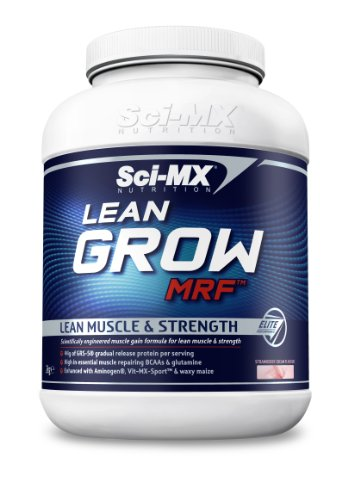 Sci-MX Nutrition Lean Grow MRF 2000 g Strawberry Lean Muscle and Strength Shake Powder