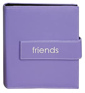 """4""""X6"""" 2-UP 208 PHOTO EXPRESSIONS EMBROIDERED MAGNETIC STRAP SERIES - LAVENDER FRIENDS - Photo Album"""