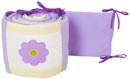 Pam Grace Creations Crib Bumper, Lavender Butterfly