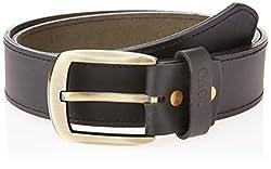 Covo Black Leather Men's Casual Belt (BJ40MQ10136)