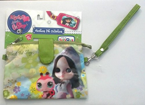 Littlest Pet Shop Blythe Vacation Pet Collection Purse Carry Case! Wrist-let Green Flower Ladybug - 1