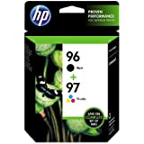 HP 96 Black & HP 97 Tri-Color Original Ink Cartridges, 2 pack (96/97 Black)