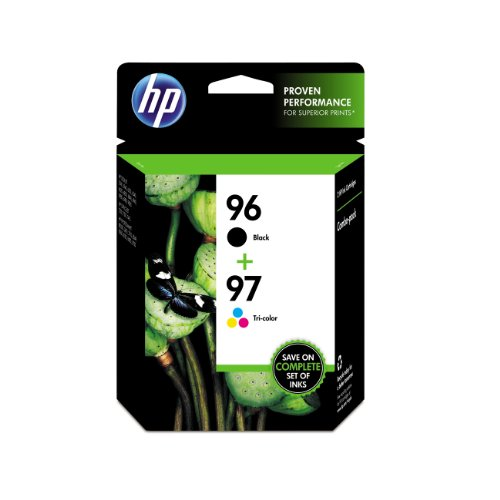 HP 96 Black & 97 Tri-color Original Ink Cartridges, 2 pack (C9353FN)