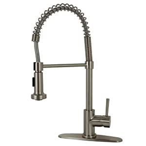 Residential Coil Spring Kitchen Faucet In Brushed Nickel