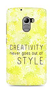 AMEZ creativity never goes out of style Back Cover For Lenovo K4 Note