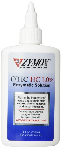 Pet King Brand Zymox Otic Enzymatic Solution for Pet Ears, 4 Ounces