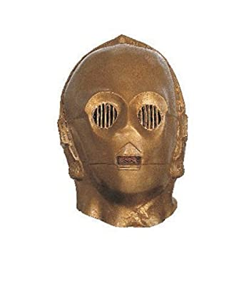 Rubie's Costume Men's Star Wars Deluxe Adult Vinyl C-3Po Mask
