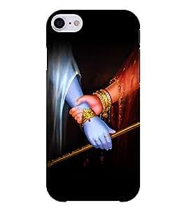 Chiraiyaa Designer Printed Premium Back Cover Case for Apple iPhone 7 (krishna radha hand flute) (Multicolor)