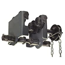 "R&M Hoists RPTC Manual Hand Geared Trolley, 2 ton Capacity, 3.46"" - 7.88"" Beam Flange Width"