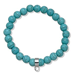 Rafaela Donata - 60990030 21 - Bracelet Femme - Turquoise - Porte-Charms Argent - 21 cm