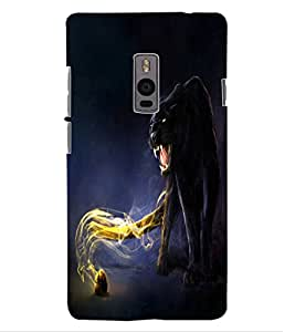 ColourCraft Flaming Jaguar Design Back Case Cover for OnePlus Two