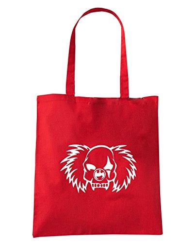 T-Shirtshock - Borsa Shopping FUN1022 clown vampire skull decal 32115, Taglia Capacita 10 litri