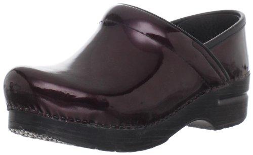 Dansko Women's Pro Black Cherry Pearl Patent Clog