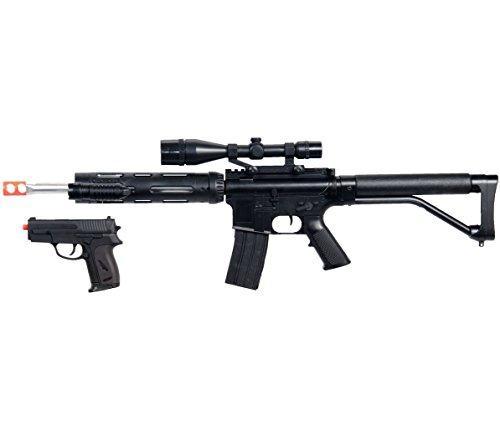 new m4 a1 m16 tactical assault spring airsoft rifle gun w/ pistol laser light bb,(Airsoft Gun) (Bb Gun Pistol Glock compare prices)