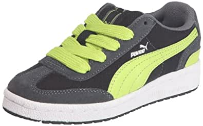 Puma Arrow FS 3 Jr 353335, Unisex - Kinder Sneaker, Schwarz (castlerock-black-lime pun 08), EU 28 (UK 10) (US 11)