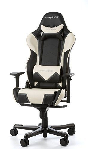 DX Racer Racing Series Pro Gaming Chair - Black and White - OH/RT110/NWG