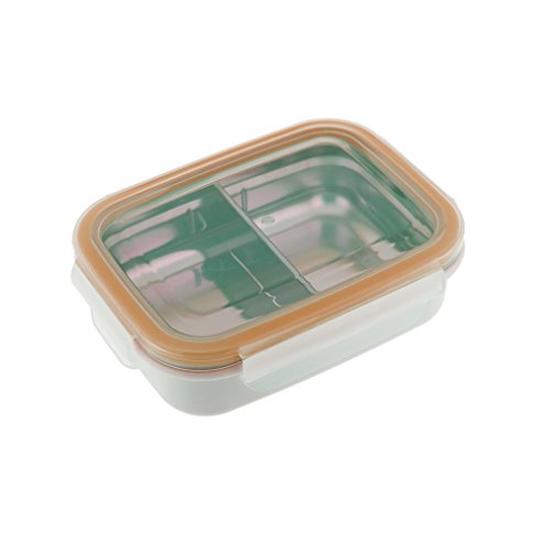 Innobaby Keepin' Smart Stainless Snackbox, Orange, 11 Oz.