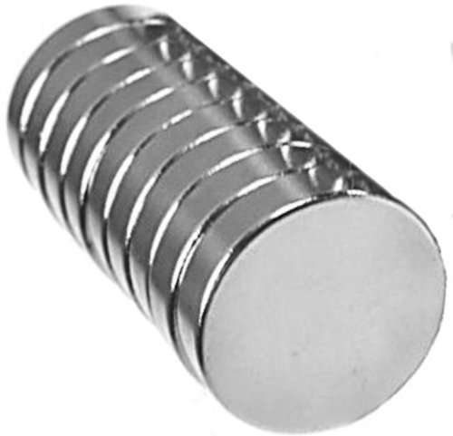 BYKES 10 Neodymium Magnets 1/2 x 1/8 inch Rare Earth Disc Magnets N48