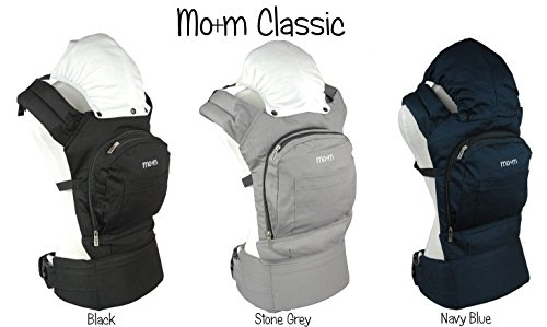 Mo+m Classic Cotton Baby Carrier – Soft Structured, Ergonomic Sling w/ Mesh Cooling Vent, Hood & Pockets