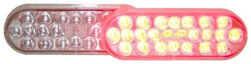 Truck-Lite 6051 Red, Led S/T/T W/Clear Lens