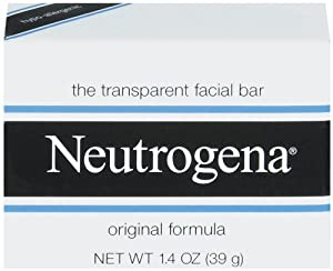 Neutrogena Original Formula Transparent Facial Bar, 1.4 Ounce Bars (Pack of 48)