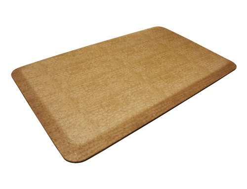 NewLife by GelPro Pebble Designer Comfort Mat, 20-Inch by 32-Inch, Caramel