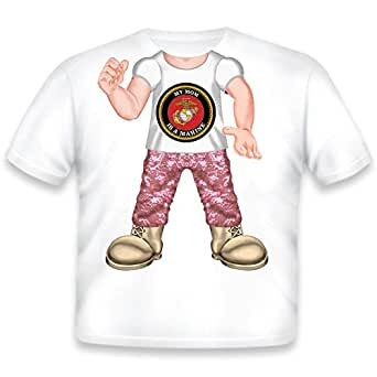 Amazon Just Add A Kid Baby Girls Marine Mom Girl T