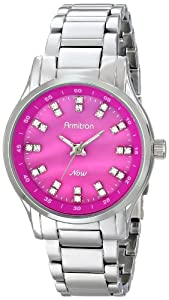Armitron Women's 75/5100PMSV Swarovski Crystal-Accented Watch
