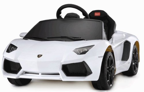 Lamborghini Aventador Battery Kids Ride On Car Electric Childrens Toy w/Remote Licensed Power Wheel With Key For Start