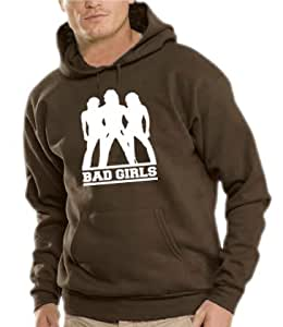 Bad Girls - Charlie Angels Hooded Sweatshirt - Pullover Brown, XXL