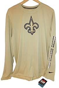 New Orleans Saints Nike Adult Size X-Large XL Performance Dri Fit - Long Sleeve Shirt... by Nike