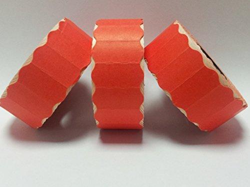 CT426mm x 12mm Prix Étiquettes Pistolet-Rouge permanent-30rouleaux/45000étiquettes