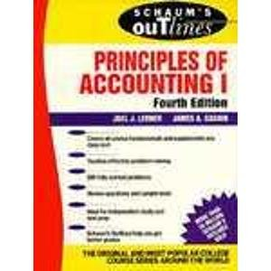 Schaum's Outline of Theory and Problems of Principles of Accounting (Schaum's Outline Series) (Pt. 1)