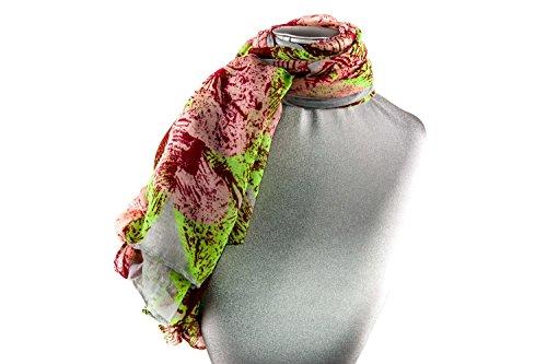 Foulard de chiffon mujer GIANMARCO VENTURI bufanda motivos gris L1228