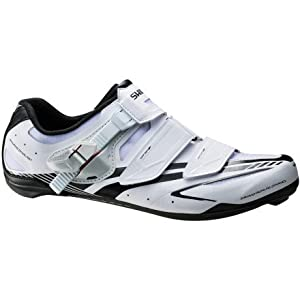 Shimano 2014 Men's Full-Featured Light Weight Performance Road Cycling Shoes - SH-R170 (White - 46)