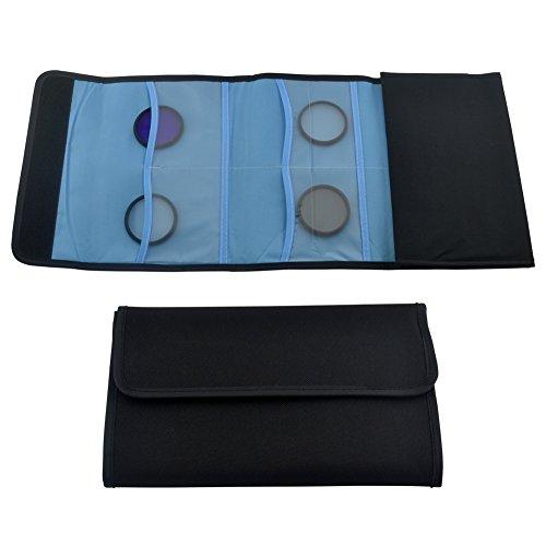 Ckeyin ® Étui pour filtres avec 12 poches pour Cokin P série Filtre UV Carré