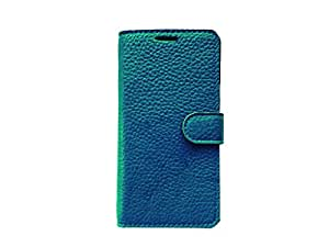 ATV Genuine Leather Royal BLUE Wallet Case Cover With Built In Stand For Sony Xperia T2 Ultra