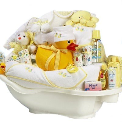 Rub-a-Dub Tub Gender Neutral New Baby Bath Time Gift Basket - Valentines, Easter or Shower Gift Idea for Newborns at Amazon.com