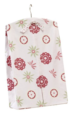 Sumersault Gillian Diaper Stacker - Rose and Pink