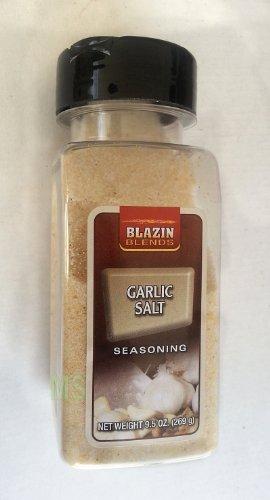 GARLIC SALT Seasoning by Blazin Blends Spices 9.5 oz... mtc