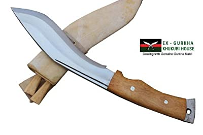"Genuine Gurkha Aeof Kukri - 8"" Hand Forged Blade Authentic British Gurkha Mini Afghan Khukuri - Handmade By Ex Gurkha Khukuri House in Nepal by Ex Gurkha Khukuri House"