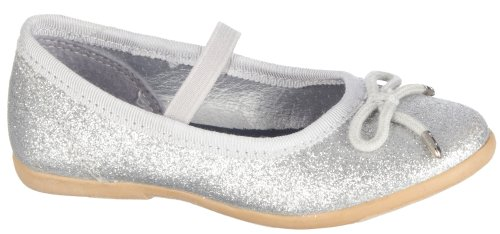 Carter'S Kate Ballet Flat (Toddler/Little Kid),Silver,5 M Us Toddler front-11029