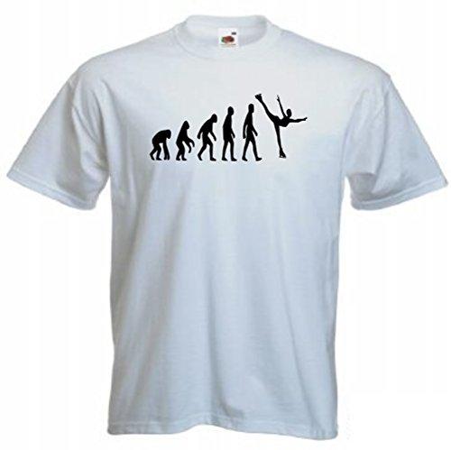 """Evoluzione dell """"uomo con tema pattinaggio sul ghiaccio, 414 bianco Small"""