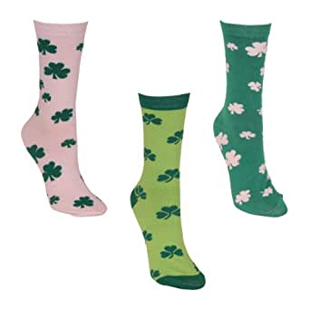 Women's Colorful St. Patrick's Day Crew Socks 3 Pack - Pack 3
