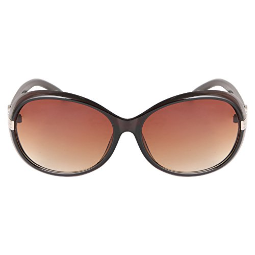 Demonio Brown Oval Sunglasses For Women (Girl's) (with Uv Protection) - B01LARJN54